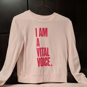 I am a vital voice human rights sweatshirt